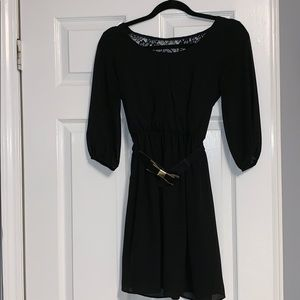 Black fit & flare dress for semi formal occasions